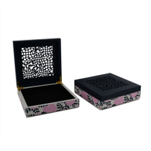 Wooden Flower Jewelry MDF Box with Laser for Gift (628200)